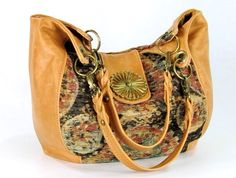 Suzani Tapestry and Genuine Lambskin Leather Hobo - Large Leather Hobo - Leather and Tapestry Handbag - pinned by pin4etsy.com Diy Decoration, Vintage Bags, Lambskin Leather, Phone Covers, Beautiful Bags, Purse Wallet, Bucket Bag, Followers, Purses And Bags