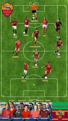 Best Football Players, Football Art, As Roma, Image Foot, Juventus Fc, Sports Humor, Soccer, Star, Vintage Football