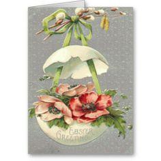 Easter Egg Flower Green Bow Card