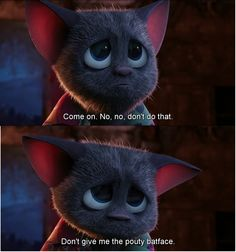 Mavis (in her bat form) in Hotel Transylvania. She's so darn cute! ❤️                                                                                                                                                                                 More
