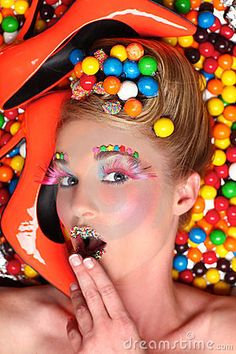 Studio Creative Candy Themed Shoot Stock Photography - Image: 24013662