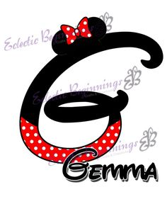 Personalized and Custom Disney Monogram and by EclecticBeginnings