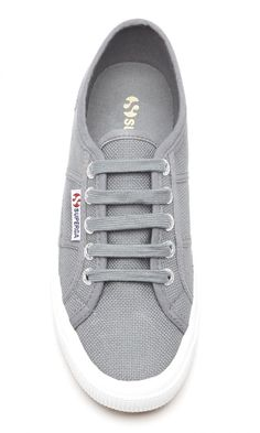 Classic grey canvas sneakers