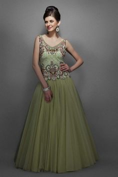 Light Pastel Green Gown