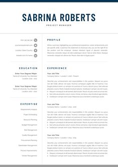 One or Two Page Resume Luxury Resume Template Professional Resume Cv Template One Page Resume Template, Modern Resume Template, Creative Resume Templates, Cv Template, Creative Cv, Cover Letter Template, Cover Letter For Resume, Letter Templates, Cover Letters