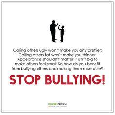 Stop bullying and #BullyNoMore!