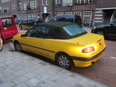 car  yellow and black