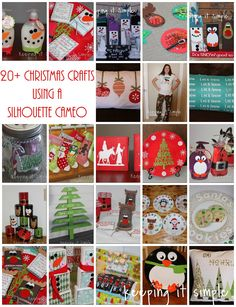 23 Christmas Crafts using a Silhouette CAMEO