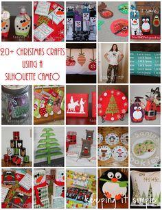 23 Christmas Crafts using a Silhouette CAMEO