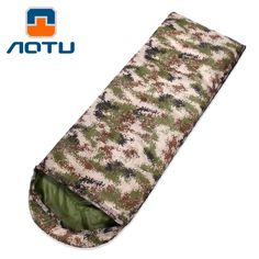 43.59$  Watch now - http://alibvc.shopchina.info/1/go.php?t=32744874870 - Digital Camouflage Envelope Sleeping Bag Widening Thickening Wind Warm Autumn/Winter Male Women New Cotton Sleeping Bags AT6117  #shopstyle
