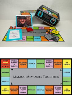 Alzheimer's Game for Alzheimers Memory Disorders Gene Cohen GENCO Board Games Making Memories Together
