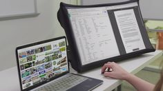 SPUD is a high resolution 24-inch screen that collapses & expands like an umbrella. Easily connect devices for videos or work anywhere!