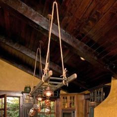ladders for hanging pots and pans