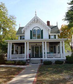 Martin Van Buren Barron House, Eau Claire - Carpenter Gothic house built in 1871