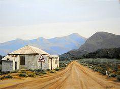 Great Karoo by Rika De Klerk Oil. BelAfrique your personal travel planner - www.BelAfrique.com