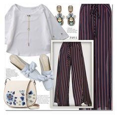 """Striped pants"" by duma-duma ❤ liked on Polyvore featuring French Connection"