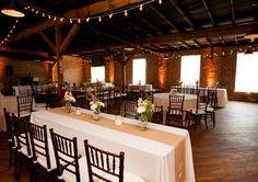 Modern rustic barn reception!