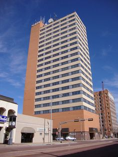 Lubbock, Texas - Great Plains Life Building. Building actually twisted in 1970 Tornado!