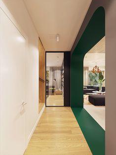 Garden Greens Add Personality to this Warm and Modern Apartment - Neue Dekoration The Secret Garden, Modern Apartment Design, Contemporary Apartment, Futuristisches Design, Deco Design, Design Ideas, Antique Living Rooms, Best Bathroom Designs, Bathroom Ideas