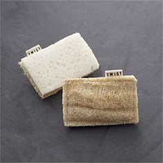 Eco Scrubber Sponge Set of Two I Crate and Barrel. These are so much prettier than the bright green and yellow ones I use now.