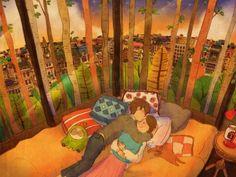 우리 꿈에서 만나요. See you in dreams. 이 그림은 컬러링북에 실려있습니다. 한번 색칠해보세요! :) http://book.naver.com/bookdb/book_detail.nhn?bid=11555879