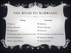 The Road to Marriage: Dating Versus Courtship