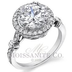 Round Moissanite Antique Bella Halo Engagement Ring. You know these Round Cut Halo rings are giving the square cuts a run for my honey's money!