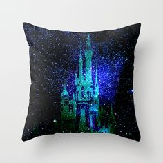 Dream castle. Fantasy Disney Throw Pillow