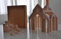 Archiblocks Roman Nr 9441 Design Bower Studios by Naef Children's Toys, Kids Toys, Wooden Building Blocks, Bookends, Roman, Studios, Architecture, Vintage, Design