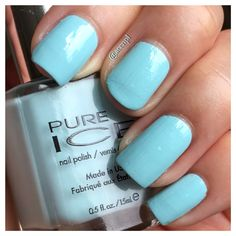 #PureIce #nails #nailpolish #swatches .  Instagram: accnpl