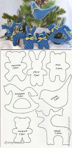 shite at shkatulka handmade - PIPicStats Christmas Projects, Felt Crafts, Holiday Crafts, Christmas Makes, Christmas Time, Felt Decorations, Christmas Decorations, Christmas Templates, Christmas Printables