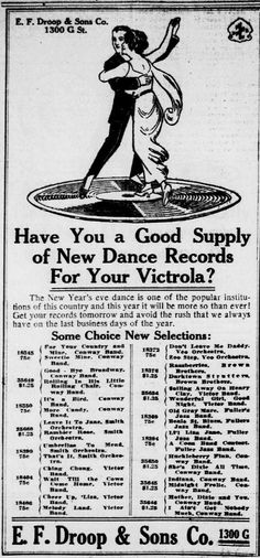Have you a good supply iof new dance records for your Victrola?