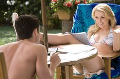 Pin for Later: The Best Bikini Moments in Movies Amber Heard, The Stepfather That's Penn Badgley sitting opposite Heard. His eyes better be on her eyes.