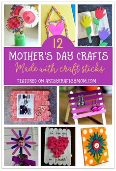 12 Mother's Day Crafts to Make with Craft Sticks