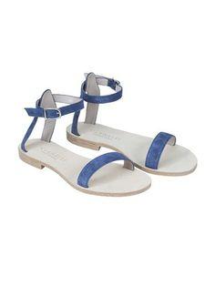 Campanella blue suede sandals - Cornetti