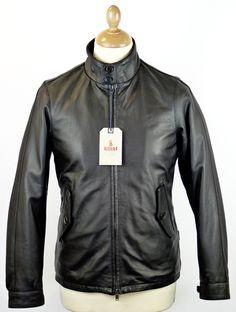 BARACUTA G4 Original Harrington Jacket in Black Leather