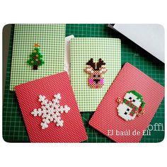 Christmas cards hama beads by elbauldeeli
