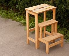 DIY build a stool that can turn into steps! Foldable Stool-Step from Instructables