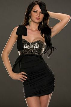 Cheap One-shoulder Front Metallic Bodice Pleated Club Dress online - All Products,Sexy Clubwear,Club Dresses Cheap Club Dresses, Club Party Dresses, Stylish Dresses, Sexy Dresses, Beautiful Dresses, Corsage, Lil Black Dress, Party Dresses Online, Dress Online