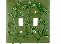 Ceramic Light Switch Cover Persian Design by HoneybeeCeramics, $25.00