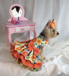 Sunrise Blossom Dog Dress by LittlePawsBoutique on Etsy