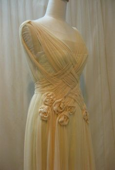 Custom Made Unique Crisscross Pleated Wedding Dress by Madabby, $278.00