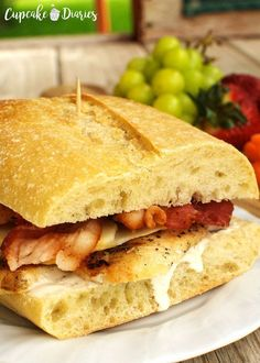 already begging for me to make these sandwiches again. Chicken Bacon Ranch Sandwiches m Chicken Bacon Ranch Sandwich, Grilled Chicken Sandwiches, Bacon Sandwich, Sandwich Recipes, Sandwich Ideas, Chicken Quesadillas, Ranch Chicken, Cold Sandwiches, Delicious Sandwiches