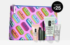 Receive a free 5-piece gift with any £55 purchase at Clinique.co.uk plus also pick 4 free samples. Clinique Gift, About Uk, Cosmetic Bag, Free Gifts, Beauty Makeup, Eyeshadow, Cosmetics, Free Samples, Eye Shadow