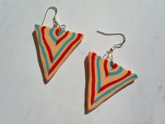 Cercei în dungi/ Striped earrings From Niaca Jewelry Striped Earrings, Drop Earrings, Blog, Jewelry, Fashion, Jewellery Making, Moda, Jewelery, Drop Earring