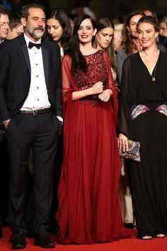 """Eva Green en un look de Elie Saab durante la premiere de """"The Salvation"""" en el Festival de Canne"""