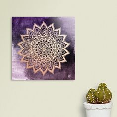 Discover «BOHO NIGHTS MANDALA in purple», Numbered Edition Acrylic Glass Print by nika martinez - From 65€ - Curioos