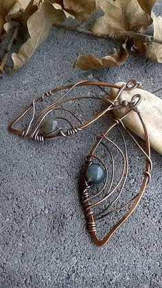 Copper earringsFairy Copper Wire EarringsFairy by Tangledworld