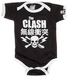The Clash Japan Ringer One Piece from My Baby Rocks - Rock and punk band baby clothes
