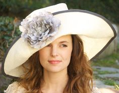 Kentucky Derby Hat Womens Cream & Gray Wedding Hat by AwardDesign, $125.00